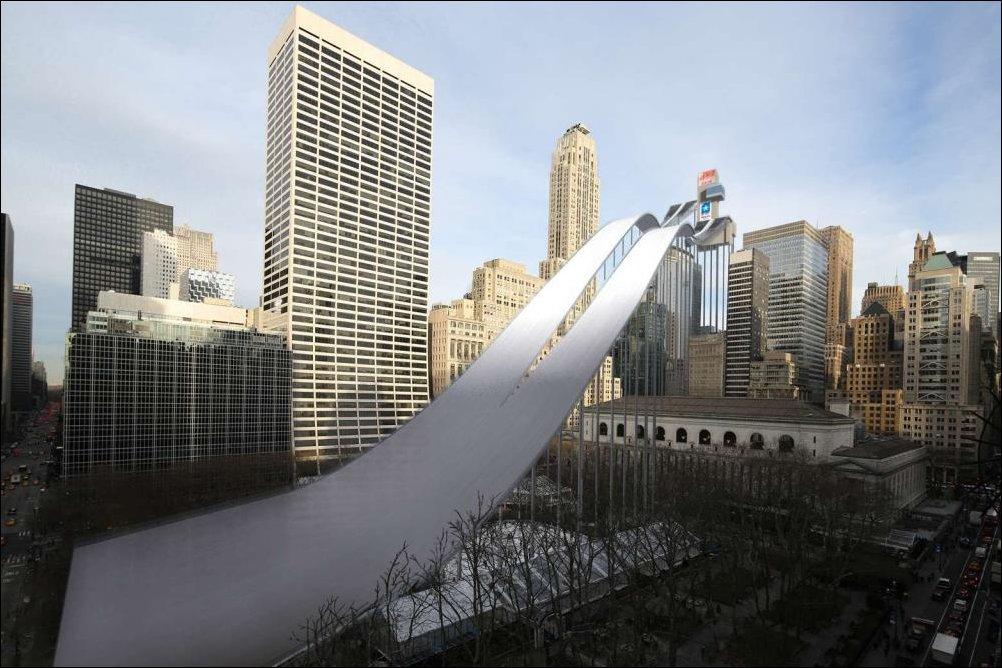 Визуализация олимпийских объектов Сочи 2014 на улицах Нью-Йорка
