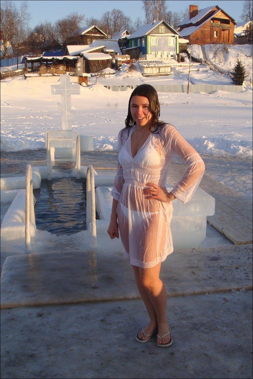 Снег голыми купаться 24 фотография