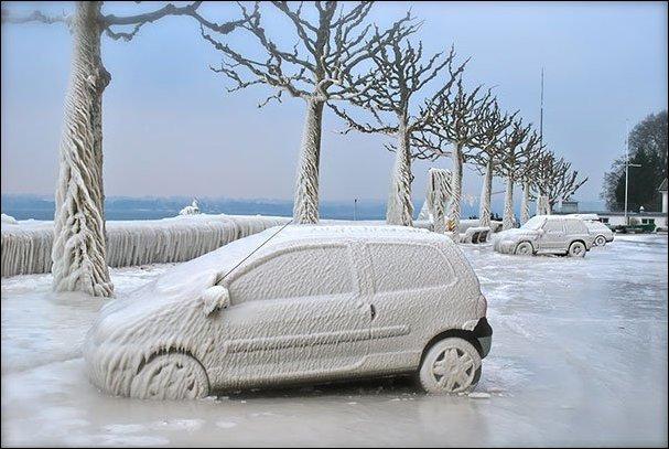 Мороз и автомобили