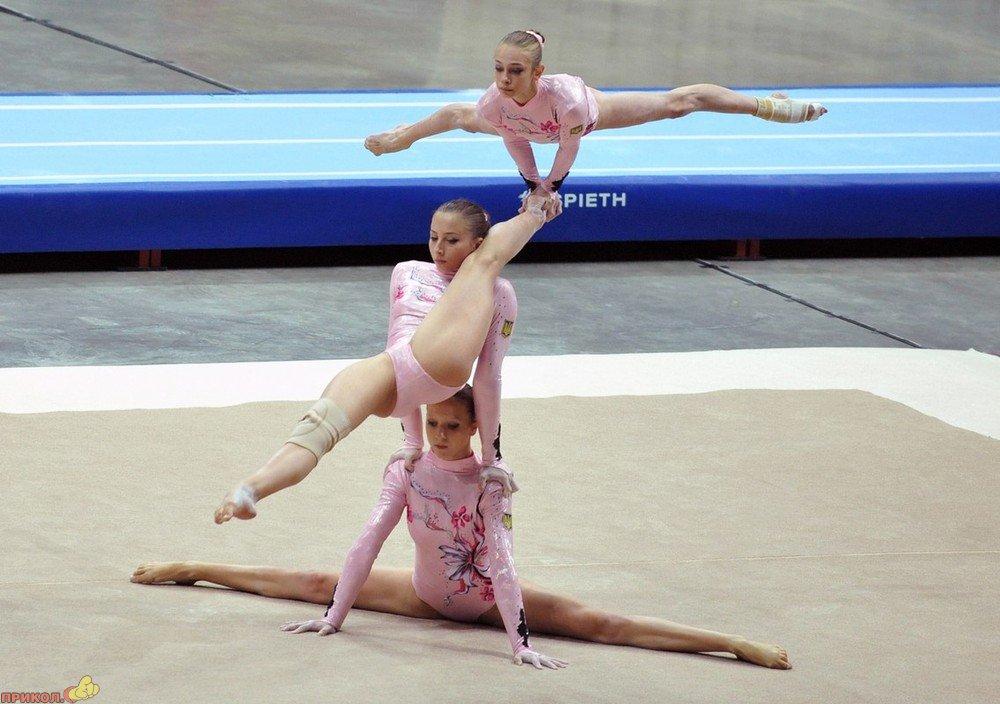Фото приколы в художествеенной гимнастике - смотреть демотиваторы.