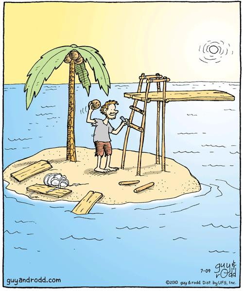 Открытки шаблоны, необитаемый остров смешные картинки