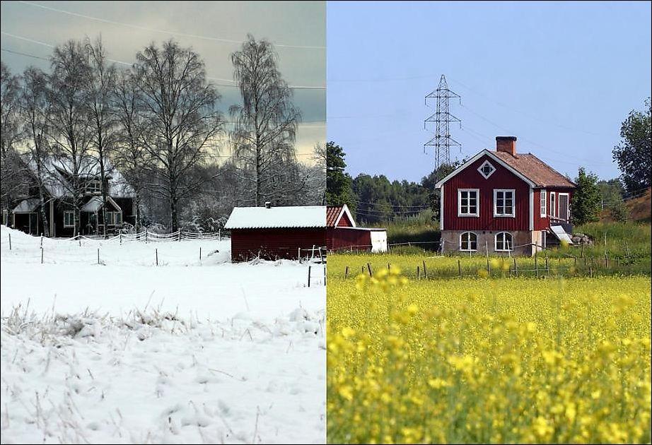 лето зимой