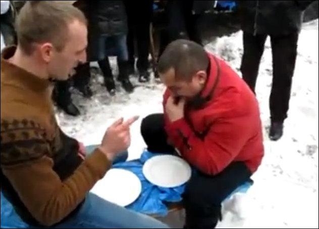 Розыгрыш с тарелками
