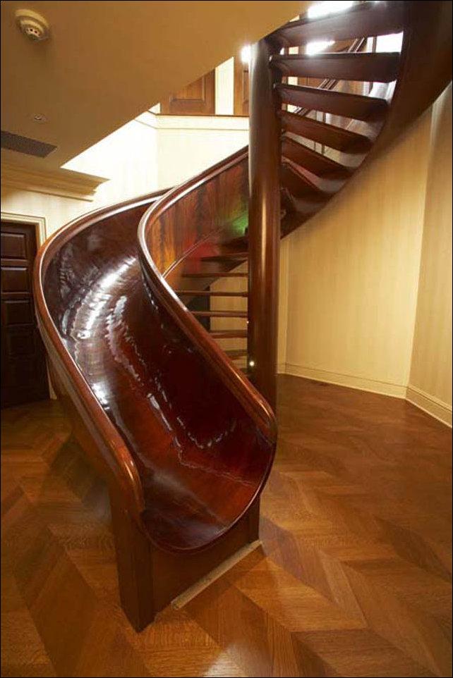 10 лестниц с горкой для скольжения
