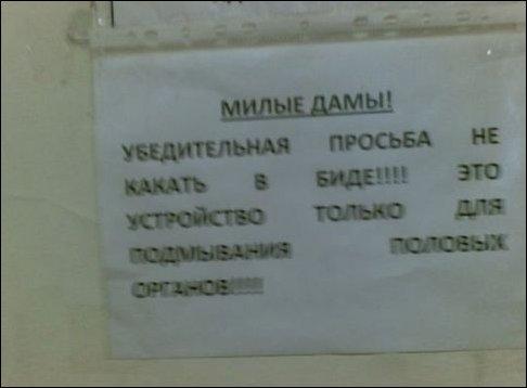 Туалетные объявления