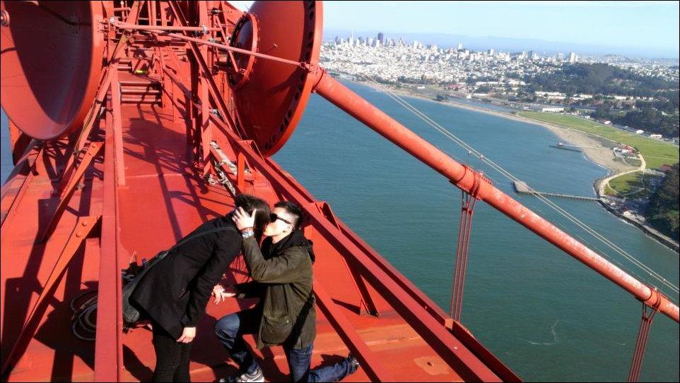 Предложение на вершине моста Золотые Ворота