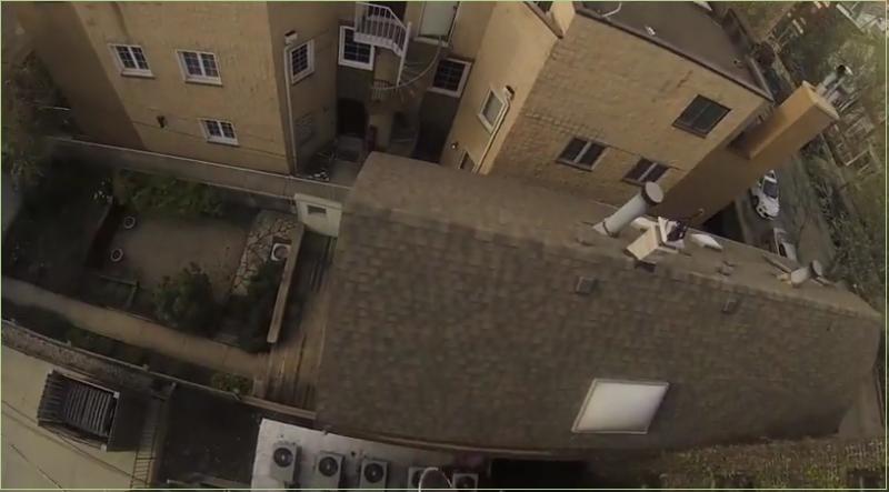 Самый фантастический прыжок с крыши
