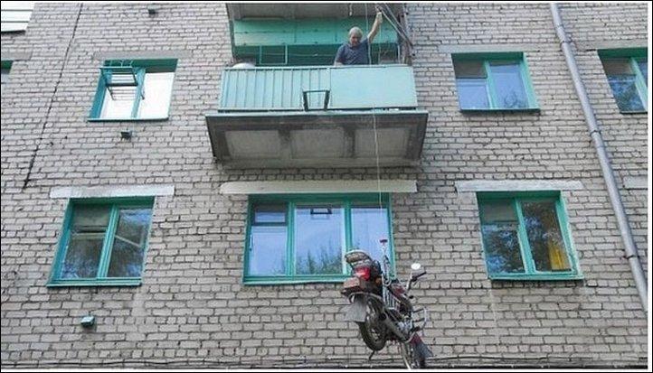 Парковка на балконе