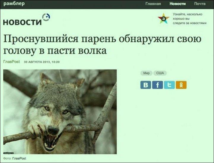 Смешные заголовки новостей