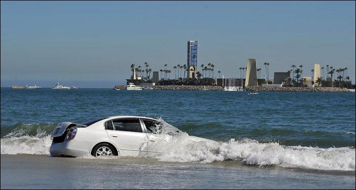 Утопил машину