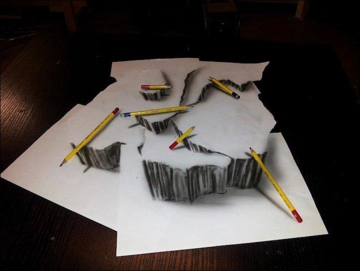 3D рисунки простым карандашом | Прикол.ру — приколы, картинки ...