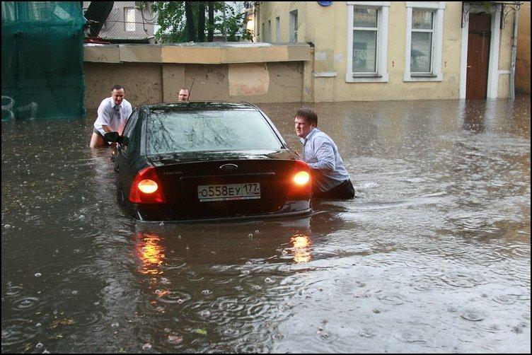 После ливня в Москве