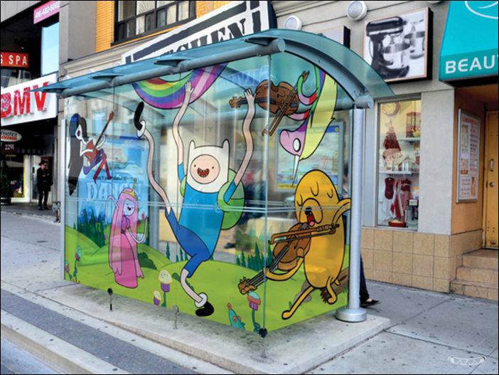 Автобусная остановка в Торонто