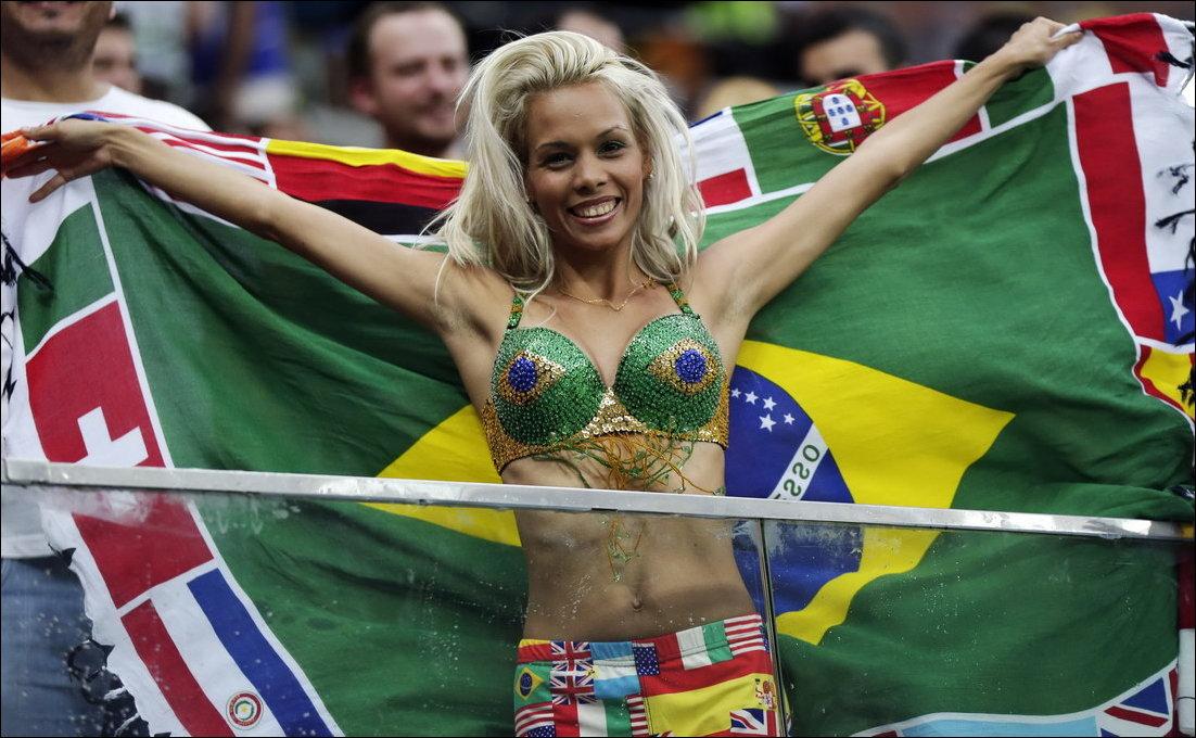Болельщики с Чемпионата мира по футболу 2014
