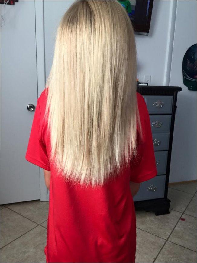 Мальчик пожертвовал волосы