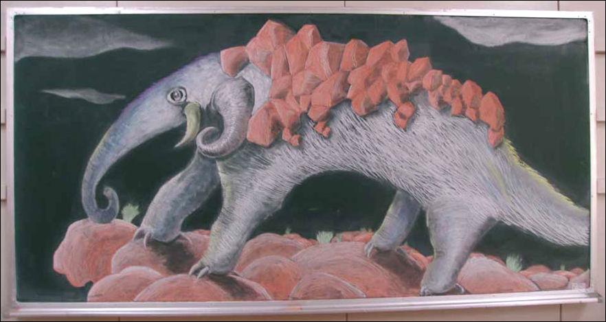 Рисунки мелом на доске