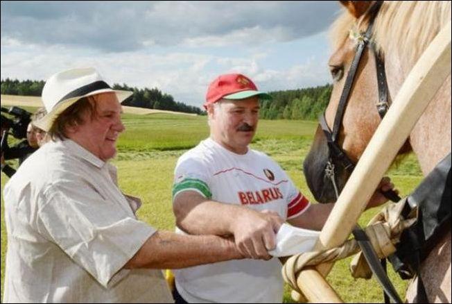 Депардье в гостях у Лукашенко