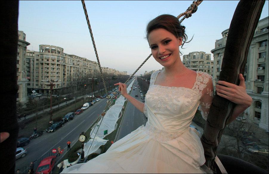 Самый длинный в мире шлейф свадебного платья