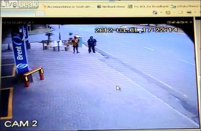 Проучил пешехода