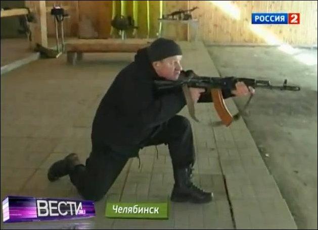 Способ удержания автомата при стрельбе