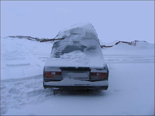 Сахалин, снегопад