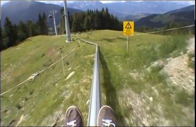 Летний спуск в Альпах