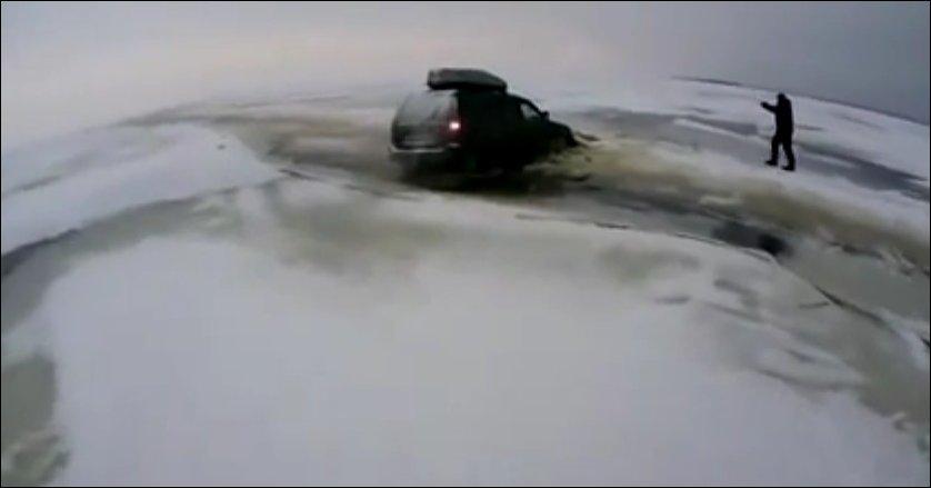 Утопили Джип на рыбалке