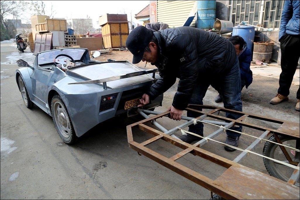 Мини Ламборгини для внука построил китаец