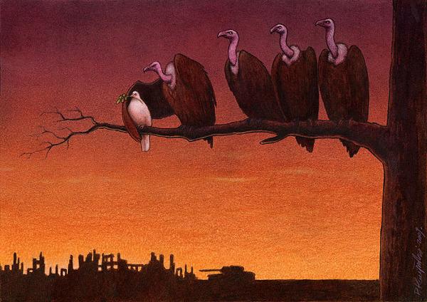 Сатирические рисунки Павла Качински