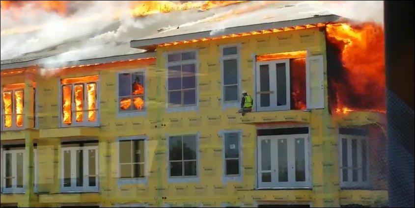 Невероятное спасение из горящего здания