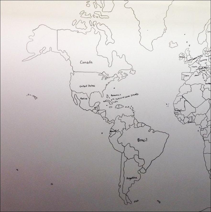 11-летний аутист нарисовал по памяти карту мира