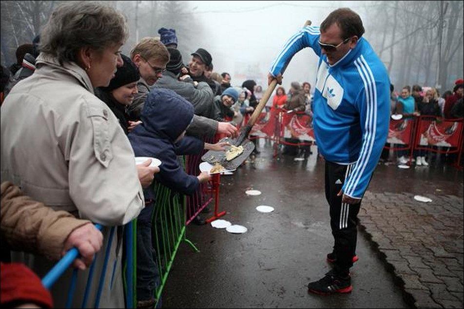 Блины на лопате в Ставрополе