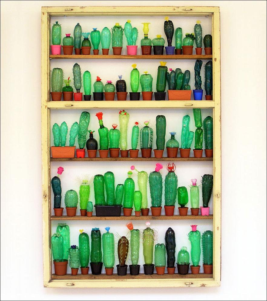 Скульптуры из пластиковых бутылок