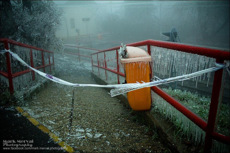 Ледяной туман в Будапеште