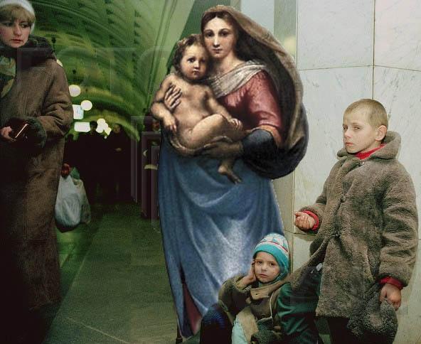 Персонажи известных картин в современном мире