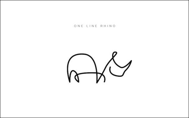 Животные нарисованные одной линией