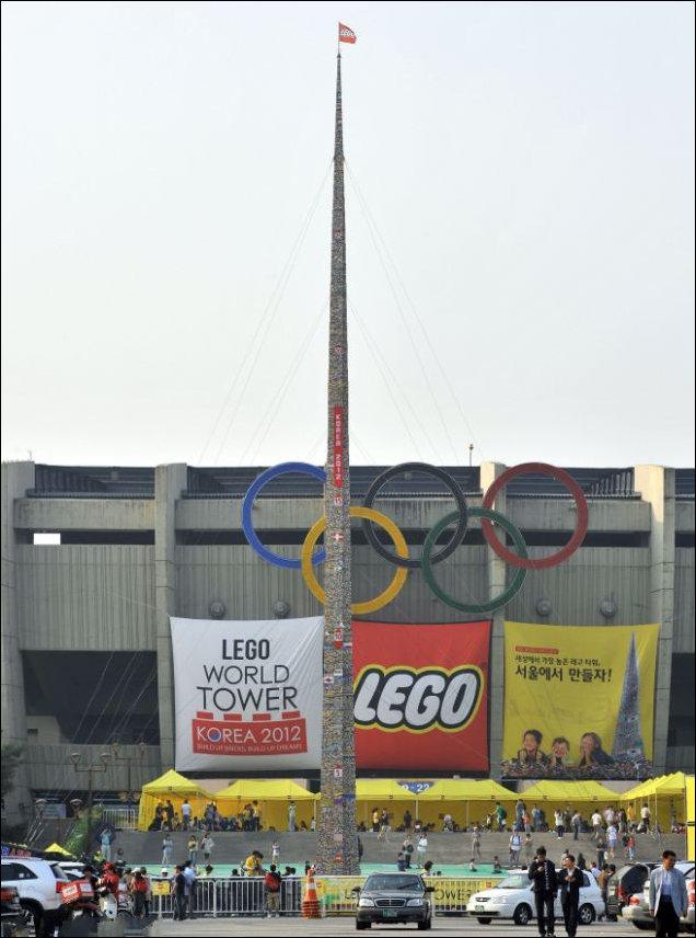 Самая высокая башня из лего