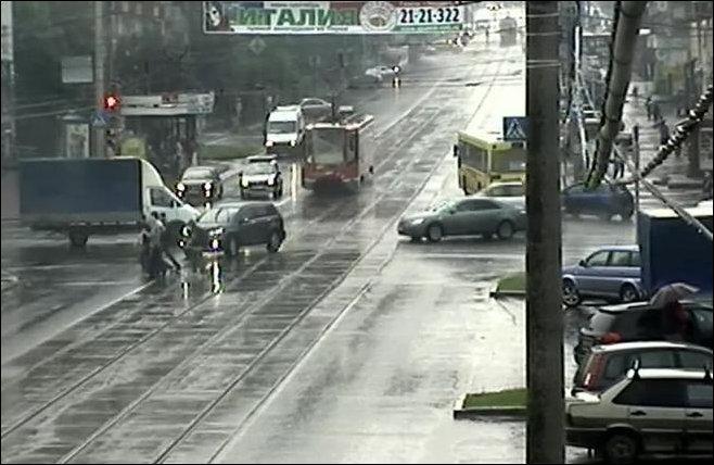 Трамвай без тормозов в Перми