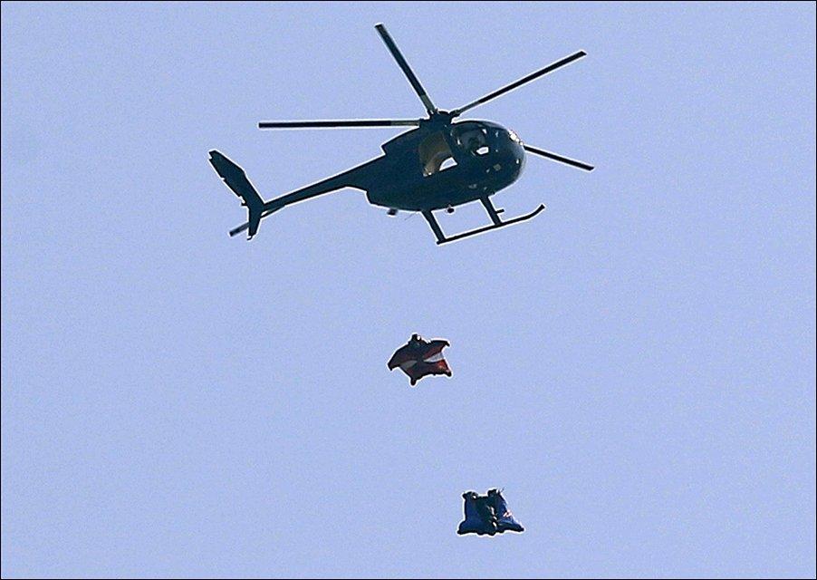 Прыжок с вертолета без парашюта