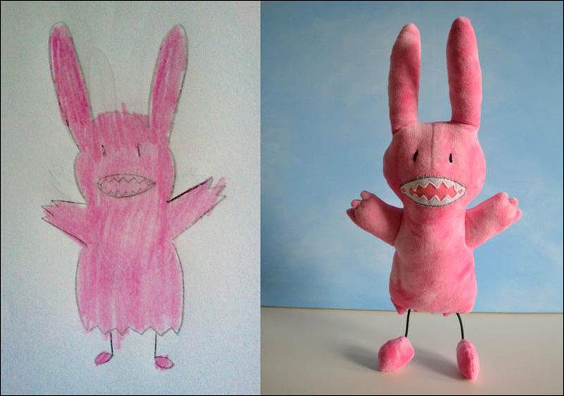 Игрушки сделанные по рисункам детей