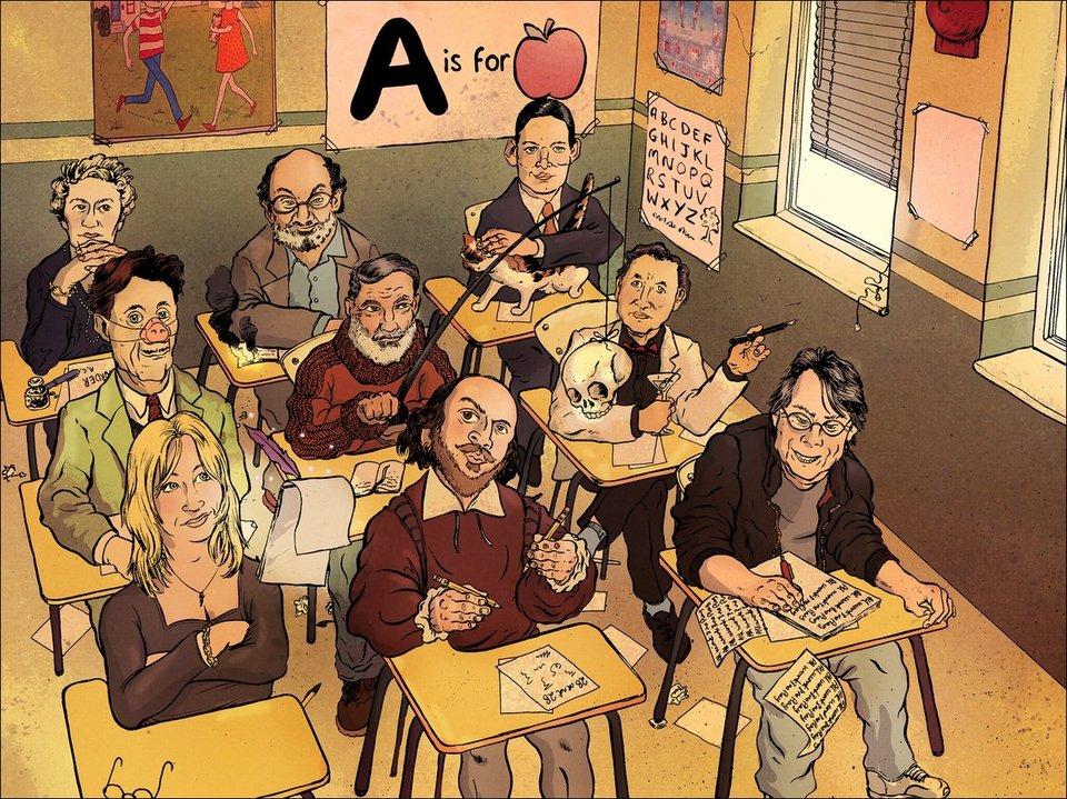 Девять писателей