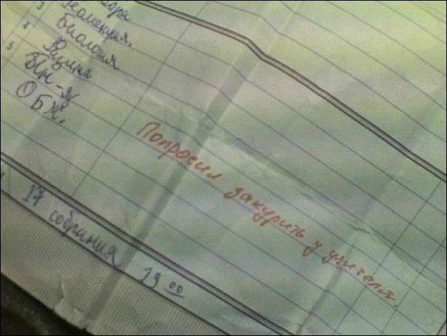 Записи из школьных дневников