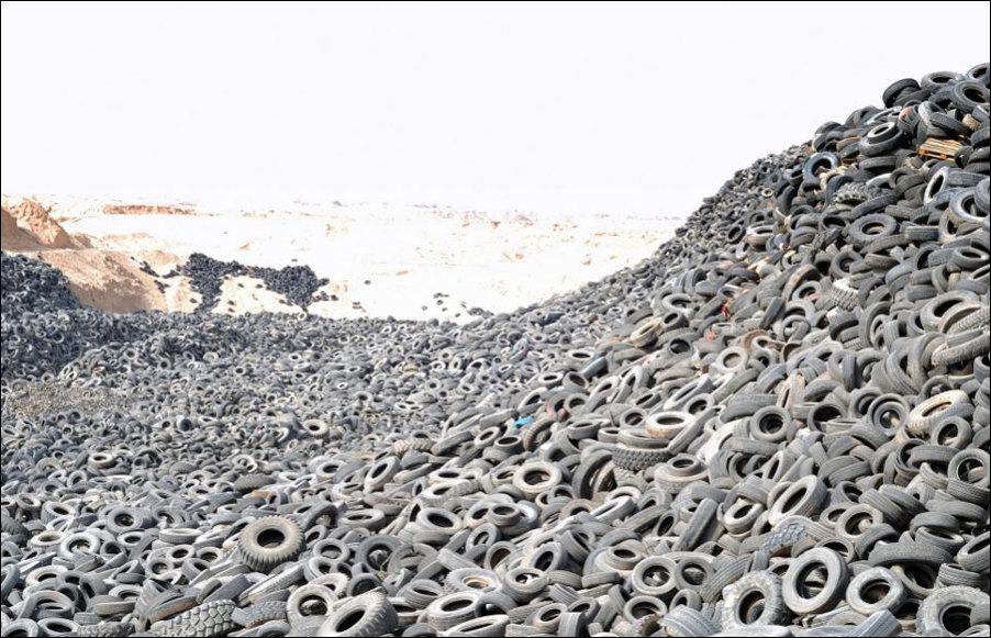 Самая большая в мире свалка автомобильных шин