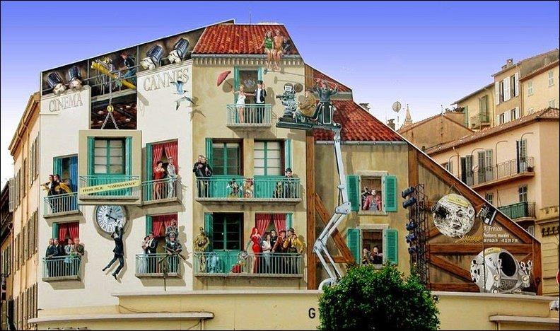 Нарисованные фасады