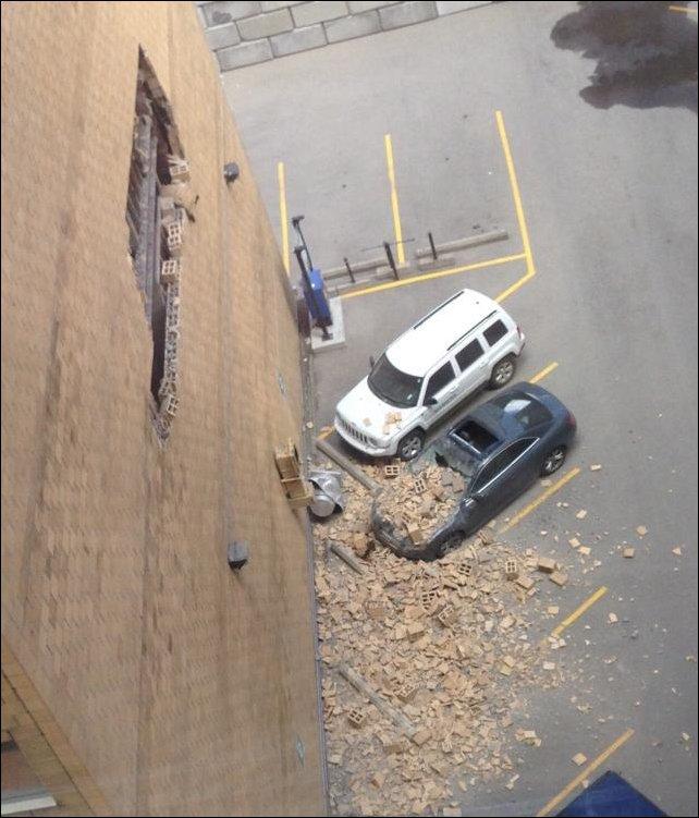 Упала стена