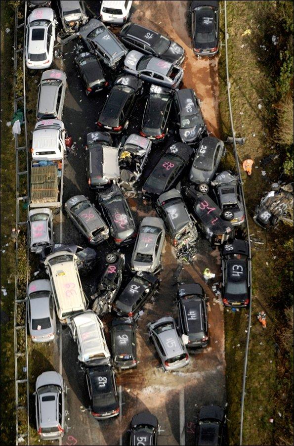 Авария на автобане в Германии