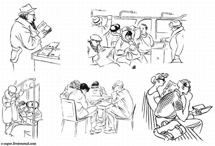 Зарисовки датского карикатуриста Херлуфа Бидструпа