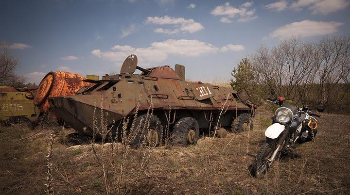 На мотоцикле по чернобыльской зоне