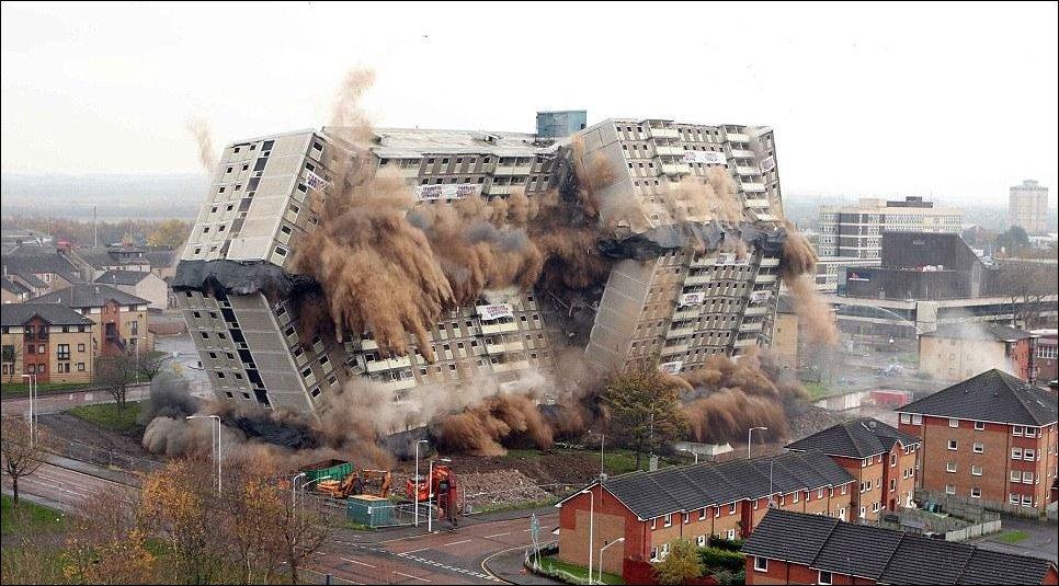 Снос домов взрывом