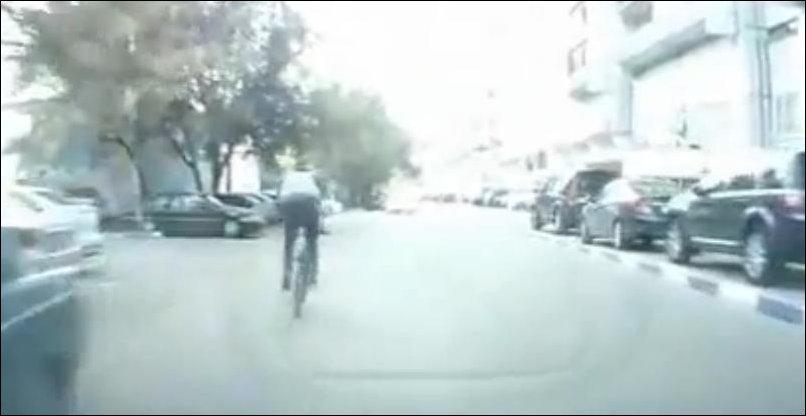 Неудачный прыжок через машину